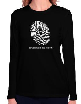 Saramaccan Is My Identity Long Sleeve T-Shirt-Womens