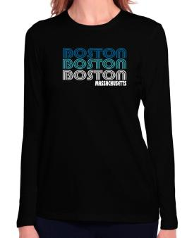 Boston State Long Sleeve T-Shirt-Womens