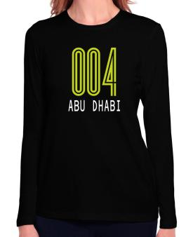 Iso Code Abu Dhabi - Retro Long Sleeve T-Shirt-Womens