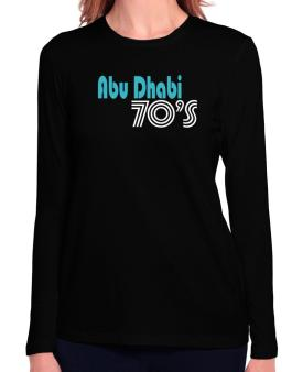 Abu Dhabi 70s Retro Long Sleeve T-Shirt-Womens