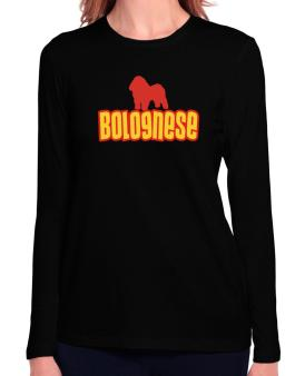 Breed Color Bolognese Long Sleeve T-Shirt-Womens