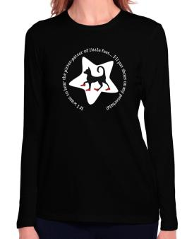 If I Want To Hear The Pitter-patter Of Little Feet ... Ill Put Shoes On My Peterbald Long Sleeve T-Shirt-Womens