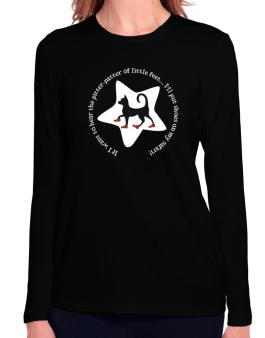 If I Want To Hear The Pitter-patter Of Little Feet ... Ill Put Shoes On My Safari Long Sleeve T-Shirt-Womens