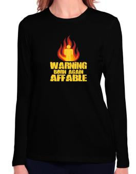 Warning - Born Again Affable Long Sleeve T-Shirt-Womens