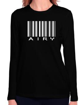 Airy Barcode Long Sleeve T-Shirt-Womens