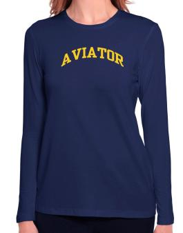 Aviator Long Sleeve T-Shirt-Womens
