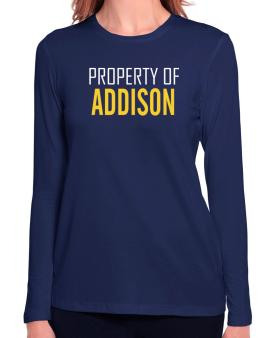 Property Of Addison Long Sleeve T-Shirt-Womens