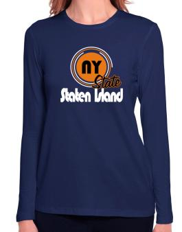 Staten Island - State Long Sleeve T-Shirt-Womens