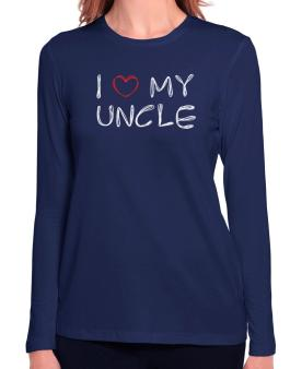 I love my Auncle Long Sleeve T-Shirt-Womens