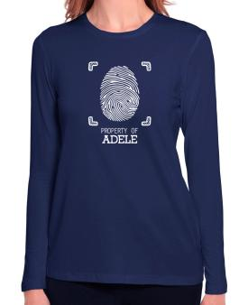 Property of Adele fingerprint 2 Long Sleeve T-Shirt-Womens