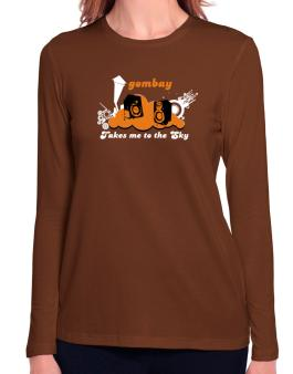 Gombay Takes Me To The Sky Long Sleeve T-Shirt-Womens