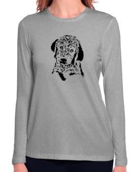 Labradoodle Face Special Graphic Long Sleeve T-Shirt-Womens