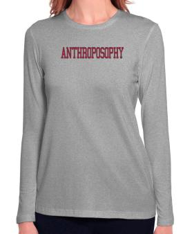 Anthroposophy - Simple Athletic Long Sleeve T-Shirt-Womens