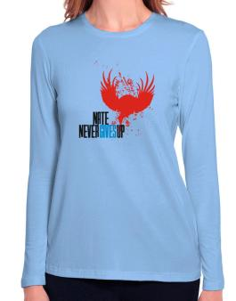 Nate Never Gives Up Long Sleeve T-Shirt-Womens