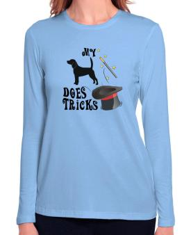 My Beagle Does Tricks ! Long Sleeve T-Shirt-Womens