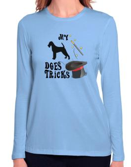 My Irish Terrier Does Tricks ! Long Sleeve T-Shirt-Womens
