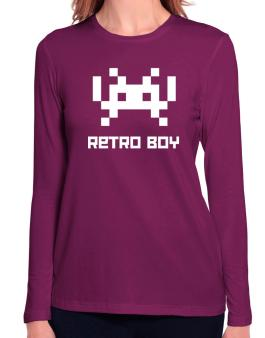 Retro Boy Long Sleeve T-Shirt-Womens
