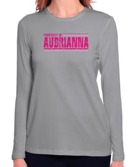 Property Of Aubrianna - Vintage Long Sleeve T-Shirt-Womens