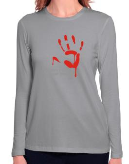 No More A Victim Of Your Cowardice Long Sleeve T-Shirt-Womens