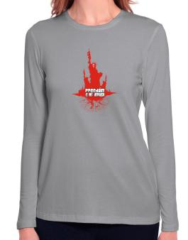 Freedom Is Not Impaired Long Sleeve T-Shirt-Womens