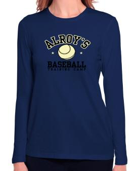 Alroys Baseball Training Camp Long Sleeve T-Shirt-Womens