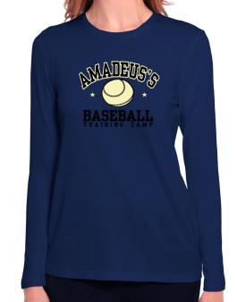 Amadeuss Baseball Training Camp Long Sleeve T-Shirt-Womens