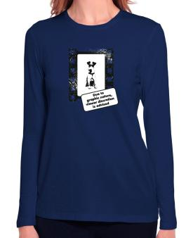 Due To The Graphic Nature, Viewer Discretion Is Advised Long Sleeve T-Shirt-Womens
