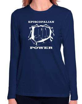 Episcopalian Power Long Sleeve T-Shirt-Womens