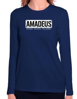 Amadeus : The Man - The Myth - The Legend Long Sleeve T-Shirt-Womens