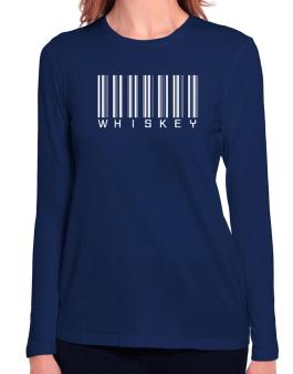 """ Whiskey - Single Barcode "" Long Sleeve T-Shirt-Womens"
