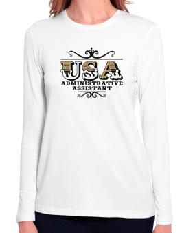 Usa Administrative Assistant Long Sleeve T-Shirt-Womens