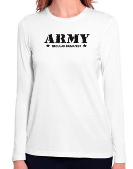 Army Secular Humanist Long Sleeve T-Shirt-Womens