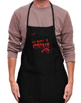 Being A ... Great Horned Owl Is Not A Crime Apron