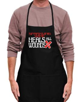 Sparkling Wine Heals All Wounds Apron