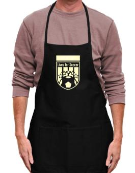 Agustino Lives For Soccer Apron