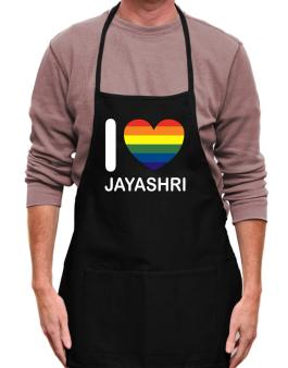 I Love Jayashri - Rainbow Heart Apron