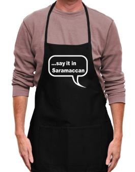Say It In Saramaccan Apron