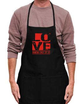 Love Norwegian Forest Cat Apron
