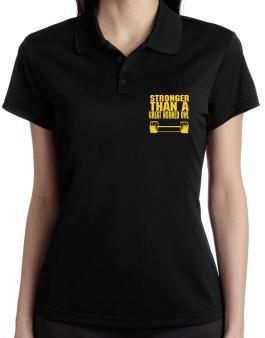 Stronger Than A Great Horned Owl Polo Shirt-Womens