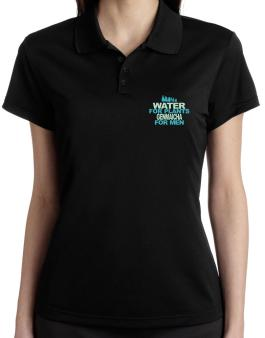 Water For Plants, Genmaicha For Men Polo Shirt-Womens