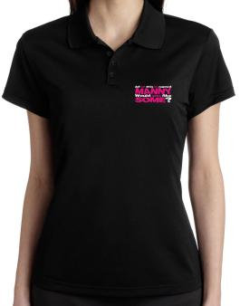All Of This Is Named Manny Would You Like Some? Polo Shirt-Womens