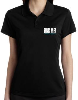 Hug Me, Im From Asheville Polo Shirt-Womens
