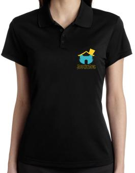 Home Is Where Manx Is Polo Shirt-Womens