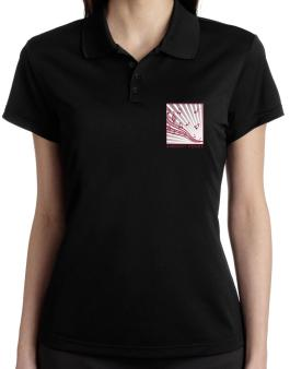 Ambient House - Musical Notes Polo Shirt-Womens