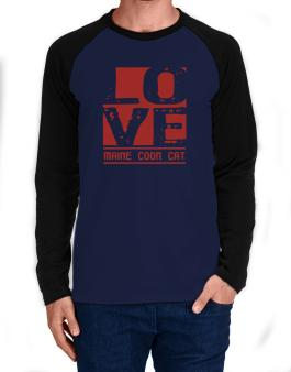 Love Maine Coon Long-sleeve Raglan T-Shirt