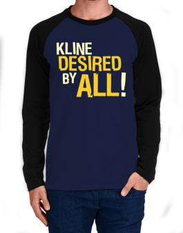 Kline Desired By All! Long-sleeve Raglan T-Shirt