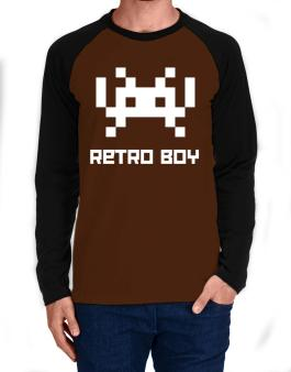 Retro Boy Long-sleeve Raglan T-Shirt