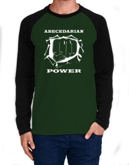 Abecedarian Power Long-sleeve Raglan T-Shirt