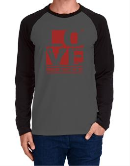 Love Norwegian Forest Cat Long-sleeve Raglan T-Shirt