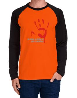No More A Victim Of Your Cowardice Long-sleeve Raglan T-Shirt